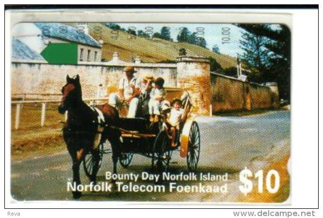 NORFOLK ISLAND $10 CHILDREN HORSE ANIMAL 1ST ISSUE MINT NOR-02 READ DESCRIPTION !! - Norfolk Eiland