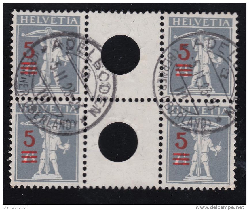 Schweiz Zwischensteg Z#S15 M#WZ13A Adelboden 1923-02-05 - Se-Tenant