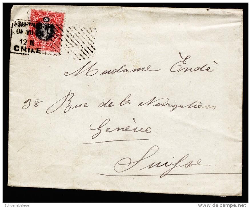 A3942) Chile Brief Von Santiago De Chile 01.07.1904 Nach Genf / CH - Chile