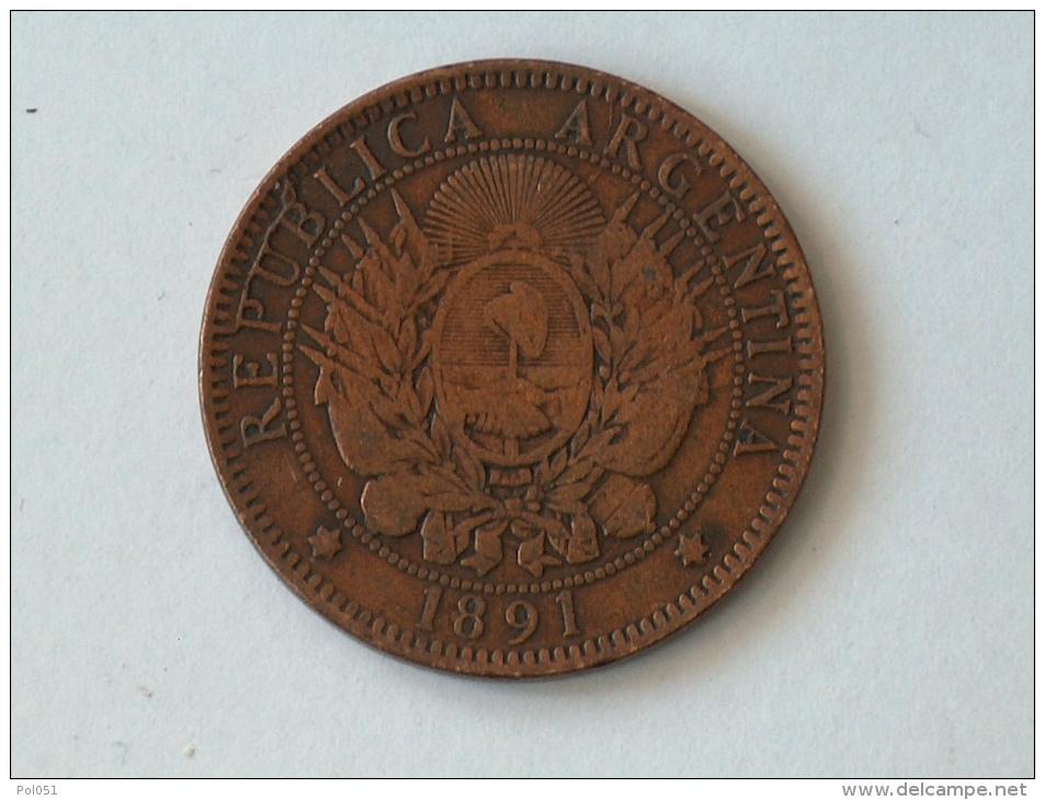 ARGENTINE DOS 2 CENTAVOS 1891 - Argentine