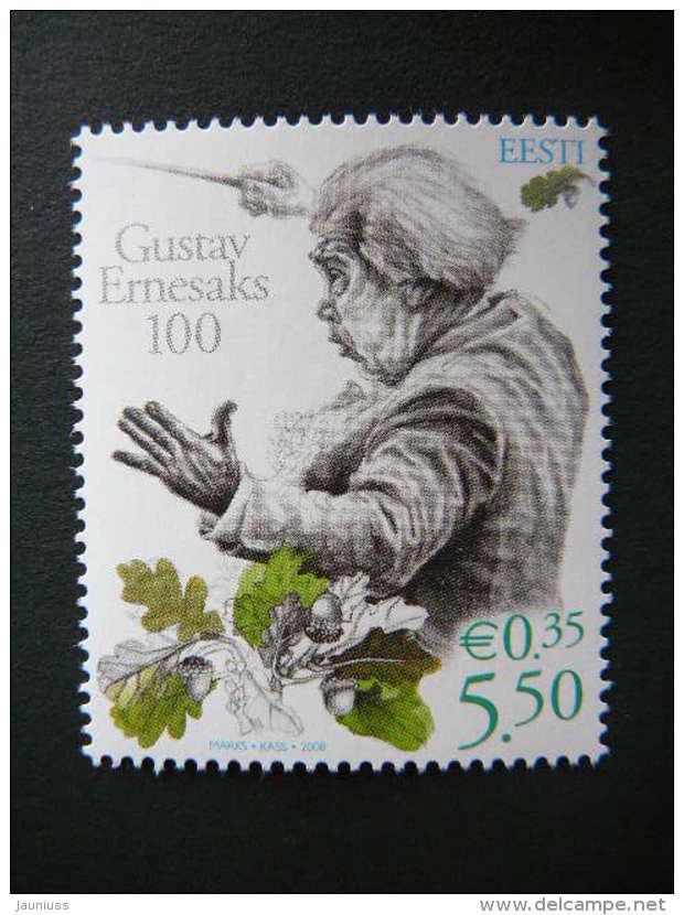 Estonia Estonie Eesti 2008 ** MNH # Mi. 601 Birth Centenary Of The Composer Gustav Ernesaks. - Estonia