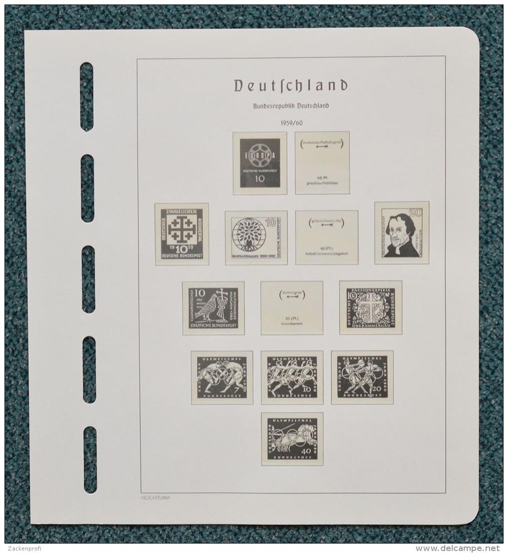 LEUCHTTURM Vordruck Bund 1960/71 SF Gebraucht Nur Für Klemmbinder (Z187) - Album & Raccoglitori