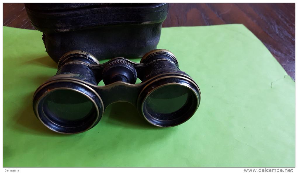 Binocle, Einde 19de Eeuw, Toneelkijker Met Beschermdoos,oud - Brillen