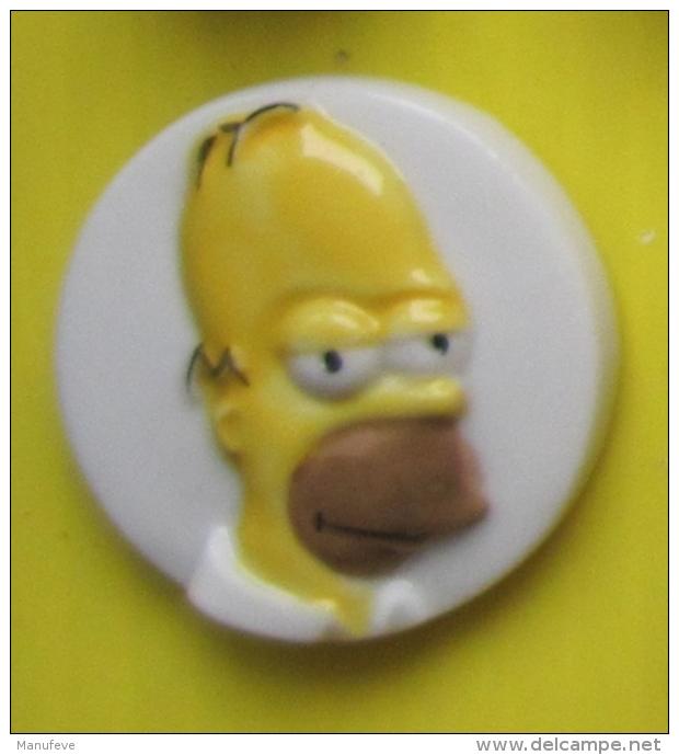 Fève  - Simpson  Medaillon -  Homer    - Réf AFF 2014 42 - Dessins Animés