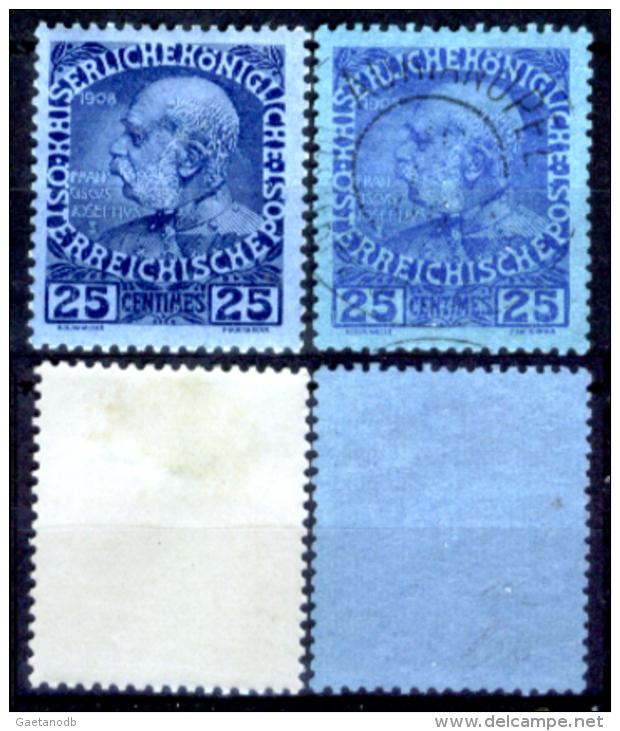 Creta 040 - Ufficio Austiaco - 1908: Y&T N. 18, 18a,(+/o), Privi Di Difetti Occulti.- - Creta