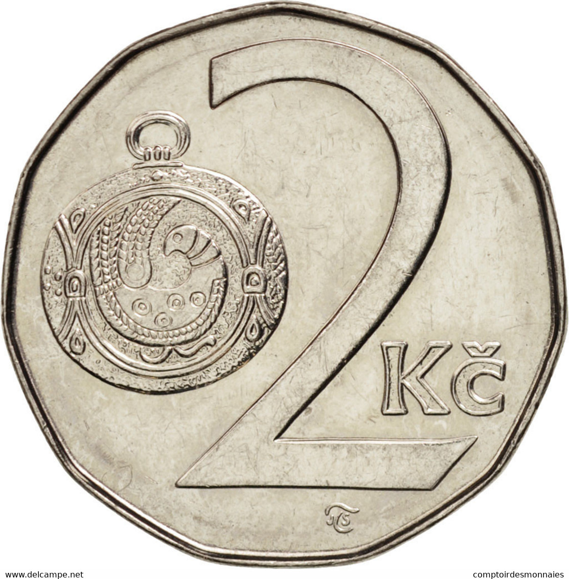 République Tchèque, 2 Koruny, 1997, SUP+, Nickel Plated Steel, KM:9 - Tchéquie