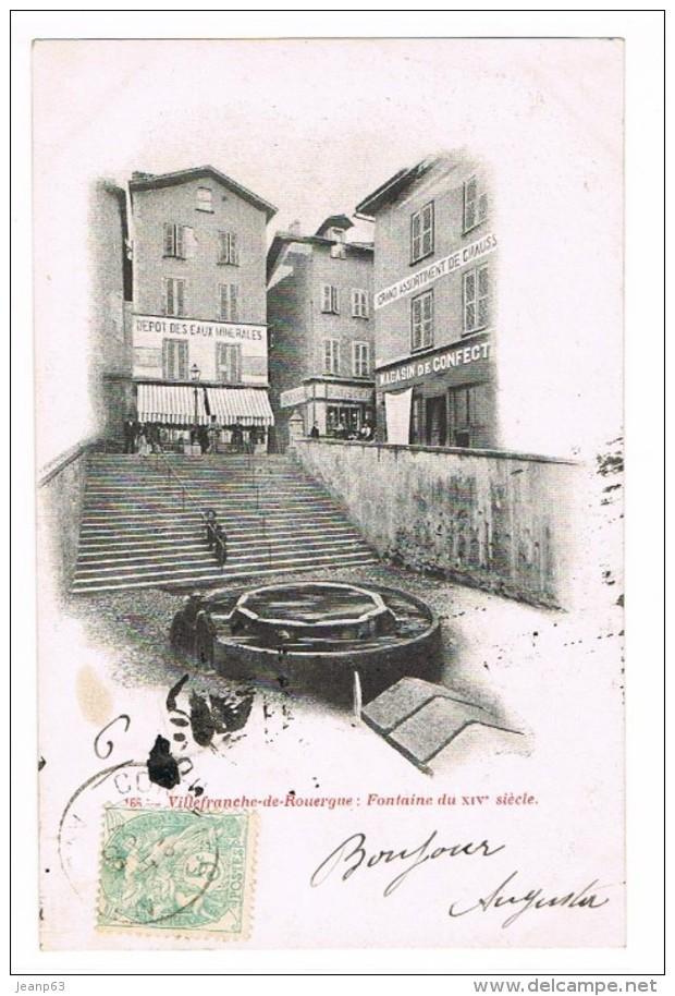 VILLEFRANCHE-DE-ROUERGUE: Fontaine Du XIVe Siècle. - Villefranche De Rouergue