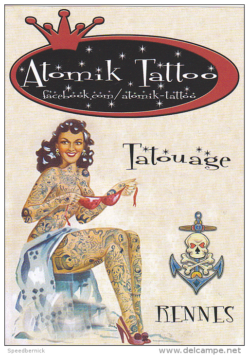 25755 Femme Tatouage -atomik Tatto - Rennes 35 France Pin Up -tatoo Tatoueur - 192 Rue Nantes - Femmes