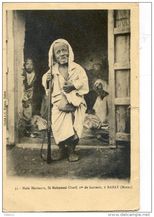 Maroc - Rabat - Nain Marocain, Si Mohamed Cherf, 1 M De Hauteur - Rabat