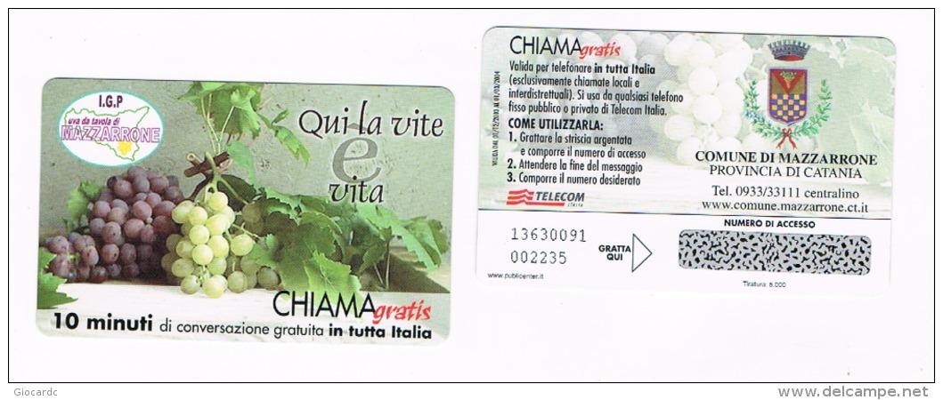 CHIAMAGRATIS -  COMUNE DI MAZZARRONE (CT): UVA DA TAVOLA   (TIR.5000)      -  NUOVA   (RIF.CP) - Italia