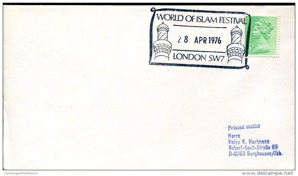 7804 England, Special Postmark 1976  World Of Islam Festival,  Mosque - Islam