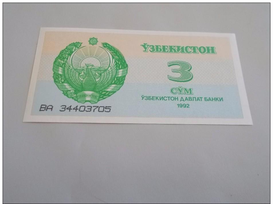 BILLET NEUF D'OUZBEKISTAN : 3 CYM - Usbekistan