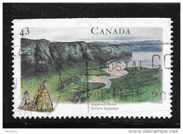 CANADA, 1994,  USED # 1511,   HERIGAGE RIVERS: SAGUENAY QC  USED - 1952-.... Règne D'Elizabeth II