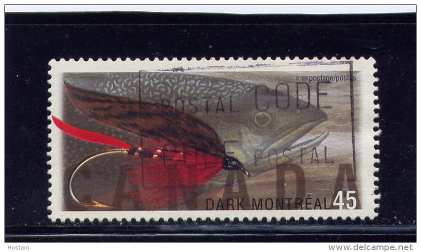 CANADA, 1998,  USED # 1718,  FISHING FLIES: LADY AMHERST    USED - 1952-.... Règne D'Elizabeth II