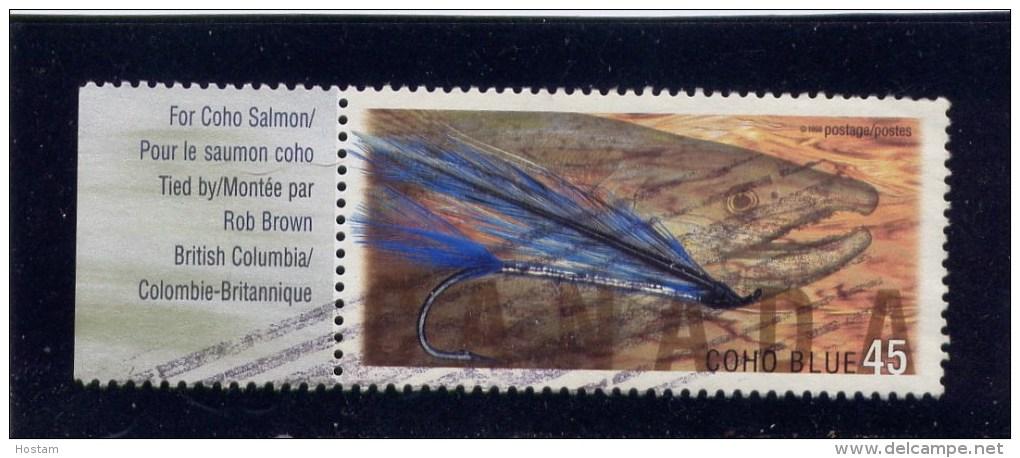 CANADA, 1998,  USED # 1719,  FISHING FLIES: COHO BLUE       USED - 1952-.... Règne D'Elizabeth II