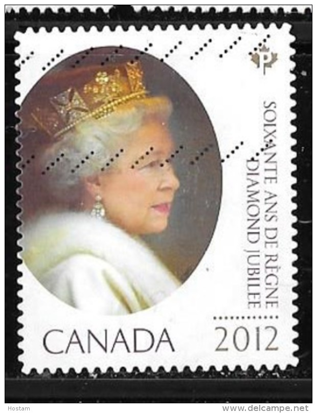 CANADA, 2012,  USED # 2518,   QUEEN ELIZABETH 11   DIAMOND JUBILEE  USED - 1952-.... Règne D'Elizabeth II