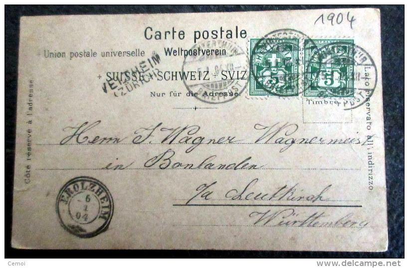 CPA à Dos Non Séparé - Gruss Von MEIRINGEN - 1904 - BE Berne