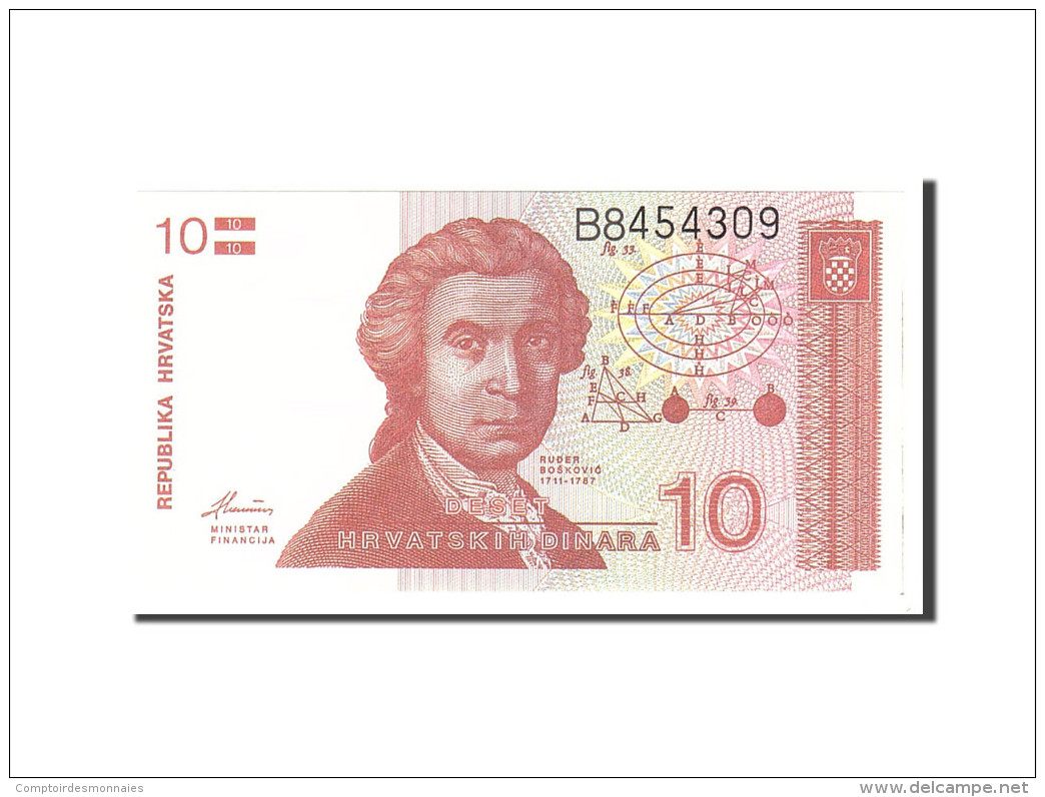 Croatie, 10 Dinara, 1991, KM:18a, 1991-10-08, NEUF - Croatie