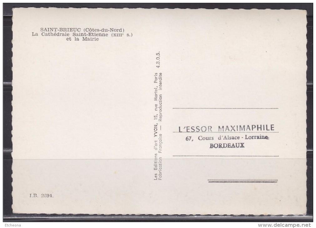 = 45è Congrès National Fédération Sociétés Philatéliques Françaises St Brieuc 20 05 1972 Carte Postale 1er Jour N°1718 - Maximumkarten