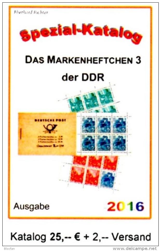 Katalog RICHTER 2016 DDR Teil 6 Nur MH 3 Neu 25€ Markenheft Booklet #3 Carnet+se-tenant Error Special Catalogue Germany - Deutsch