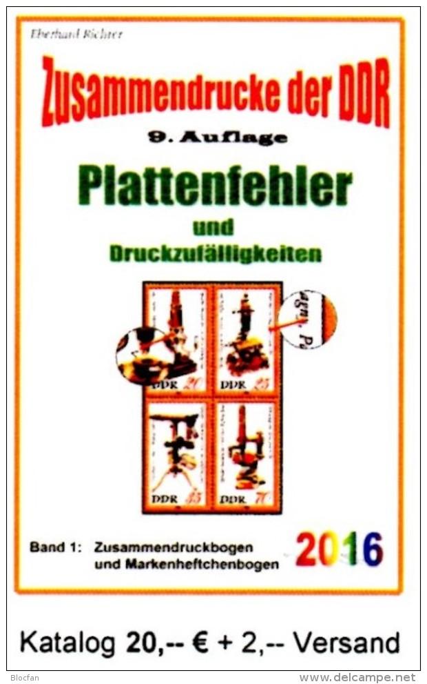 Zusammendrucke RICHTER Katalog 2016 DDR Teil 4 Abarten In Bogen-ZD Neu 20€ Se-tenant Error Special Catalogue GDR Germany - Matériel