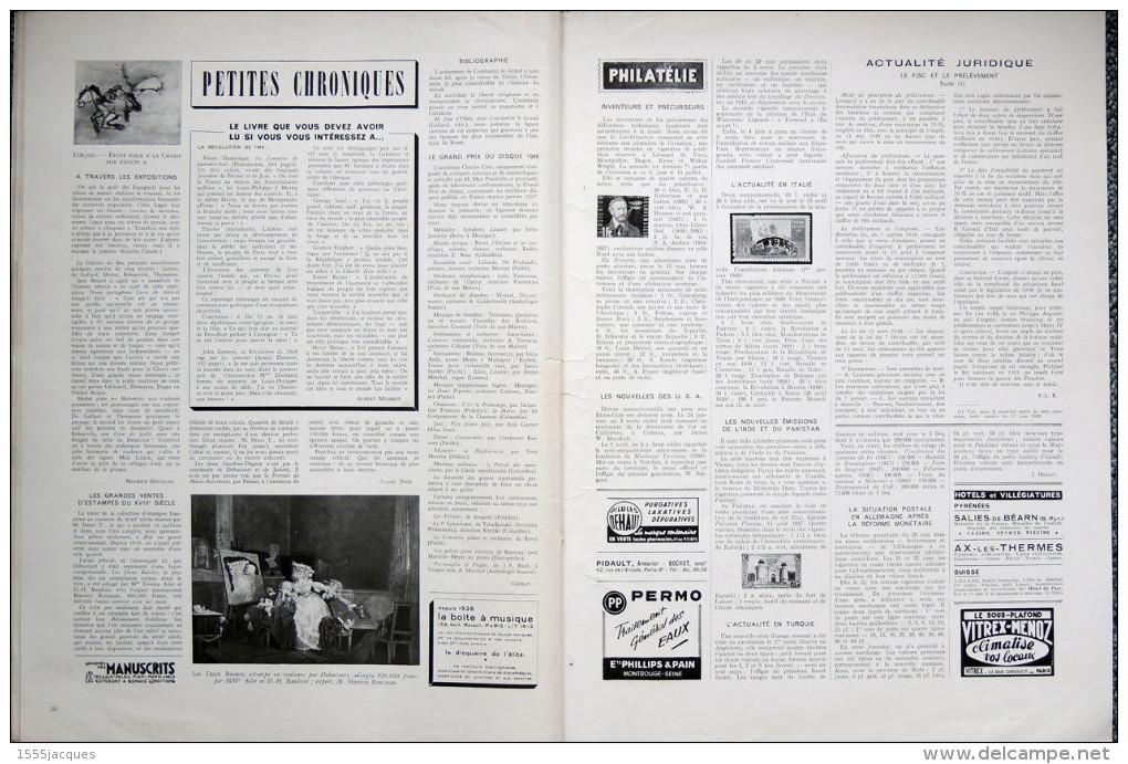 FRANCE ILLUSTRATION N° 148 / 31-07-1948 CYCLISME BARTALI RAMADIER TANANARIVE MATÈRE PLASTIQUE PENHOET DUKE ELLINGTON - Giornali