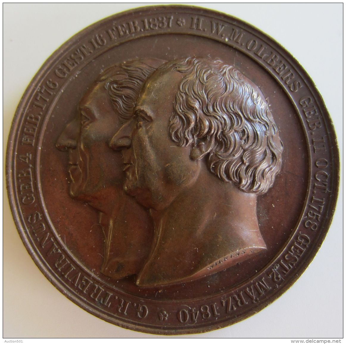 M01920  TREVIRANUS - OLBERS - PINGOUIN - DEUTSCHEN NATURFORSCHERN AERZTEN MUSEUM  BREMIEN 1844 -  Leurs Profils (66g) - Allemagne
