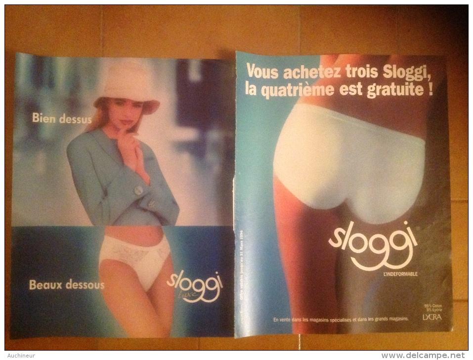 Publicité Lingerie Femme Soutien-gorge, Slip, Sloggi X 2 - Pubblicitari