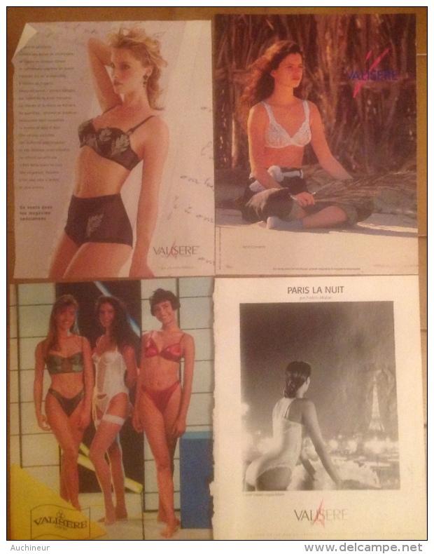 Publicité Lingerie Femme Soutien-gorge, Slip, Valisere X 4 Différents ( Collection - Pubblicitari