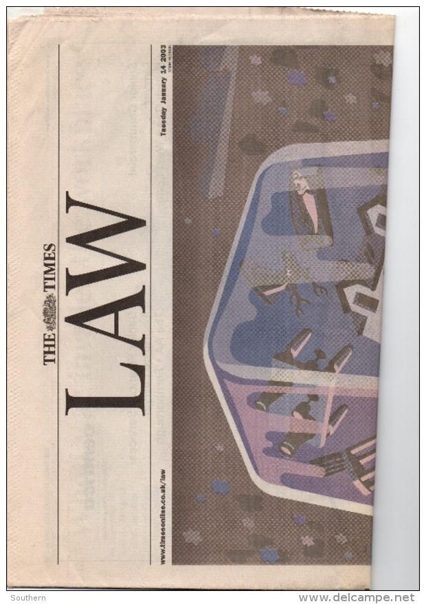 The Times LAW - 14/01/2003 - BE - Nouvelles/ Affaires Courantes