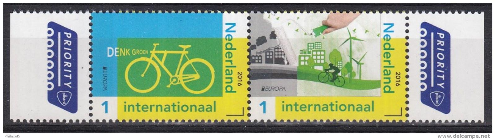 Nederland - 25 April 2016 - Europapostzegels: Denk Groen - Fiets Linkerzegel - Postfris/MNH - 2016