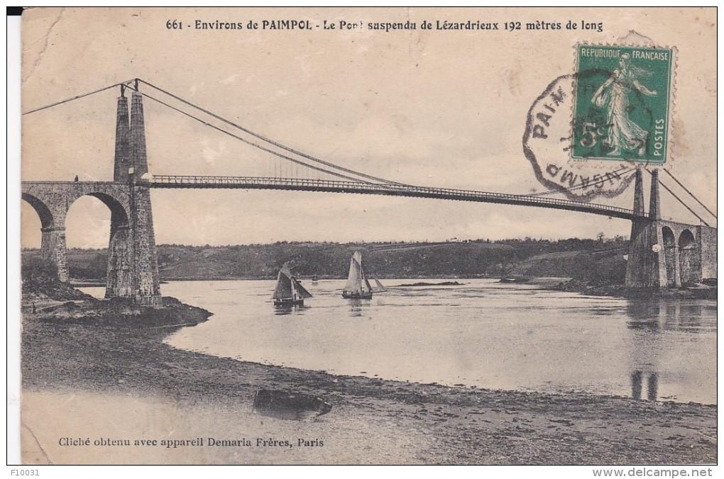 PAIMPOL  Le Pont Suspendu De Lézardrieux - Paimpont