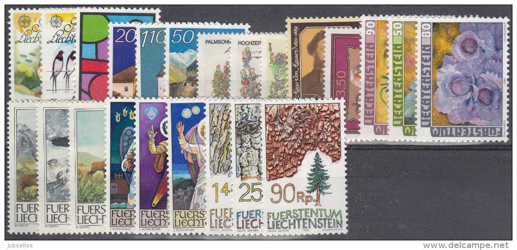 Liechtenstein Año 1986 Nuevo Y Completo - Liechtenstein