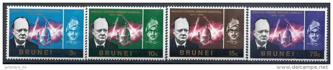 1966 BRUNEI 116-19** Churchill - Brunei (1984-...)