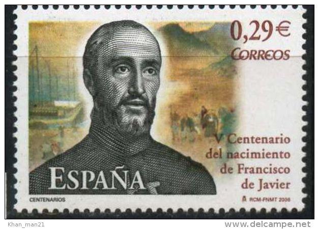 Spain, 2006, ED 4281, MI. 4178, Y&T 3883, Sc. 3460, SG 4216, 500th Birth Anniv. Of St. Francis Xavier, MNH - 2001-10 Ungebraucht