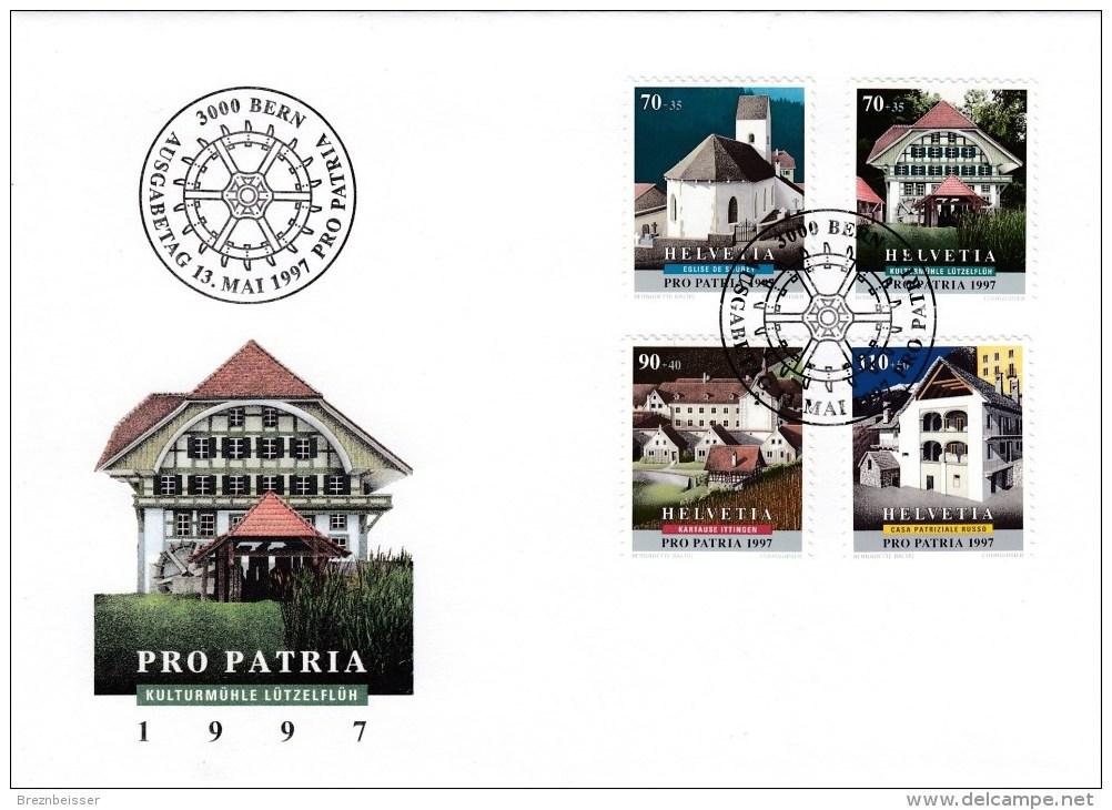 Schweiz MiNr. 1611 / 1614 Pro Patria Illustr. Ersttagsbrief / FDC - FDC