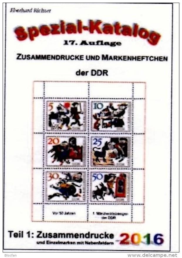 DDR/GDR Teil 1+4 RICHTER 2016 Alle Zusammendrucke+Abarten In Bogen-ZD New 45€ Se-tenants Error Special Catalogue Germany - Literatur & Software
