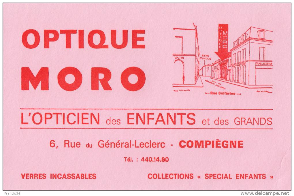 Buvard - Optique Moro - Compiègne - Buvards, Protège-cahiers Illustrés