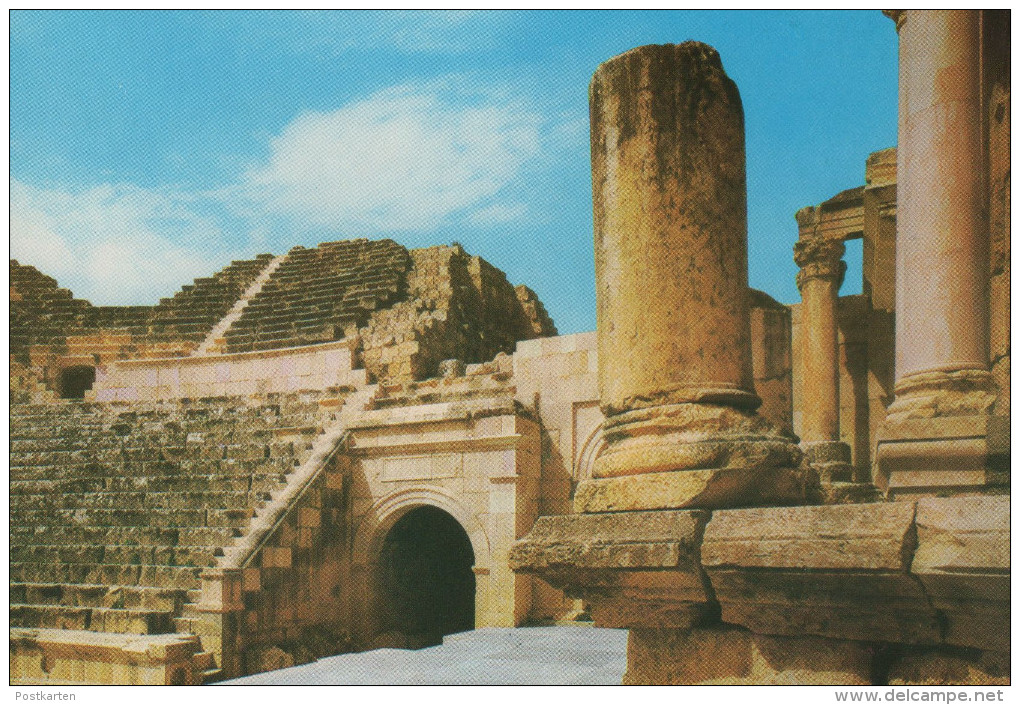 ÄLTERE POSTKARTE PART OF AMPHITHEATRE OF JERASH Theater Theatre Cpa Postcard Ansichtskarte AK - Jordanien