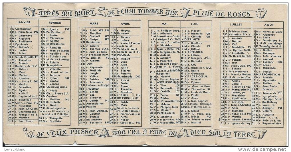 Petit Calendrier De Poche/Religieux/Saint Thérése De L'enfant Jésus/Orphelins-apprentis D'Auteuil/1944   CAL312 - Calendriers