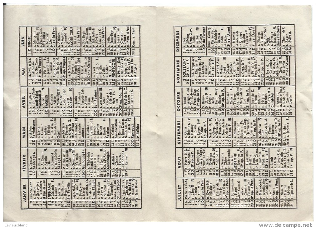 Petit Calendrier De Poche/Religieux/Saint Suaire/ Oeuvre De Saint François De Sales/1947   CAL316 - Calendriers