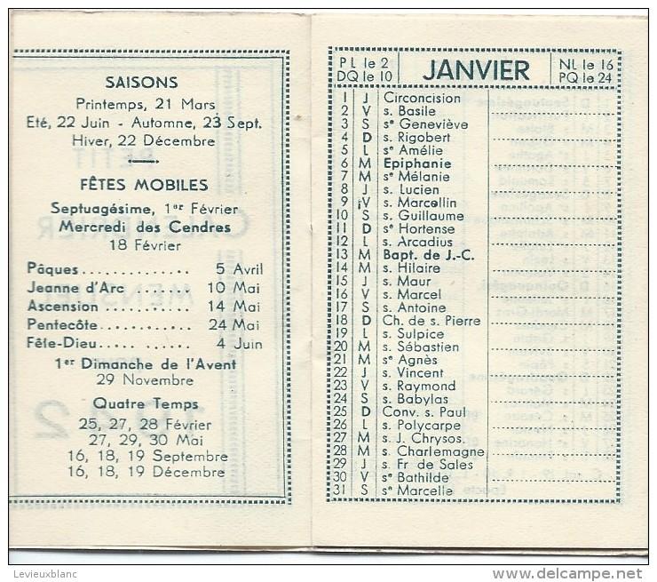 Petit Calendrier De Poche/Petit Calendrier Mensuel/1942   CAL318 - Calendriers