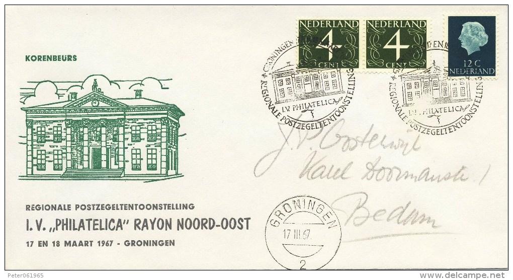 Regionale Postzegel-tentoonstelling Groningen - Met Adres / Open Klep (1967) - Period 1949-1980 (Juliana)