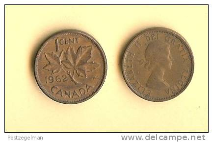 CANADA 1953-1964,, 5 Coins Of 1 Cent, QE II,  Km49 - Canada