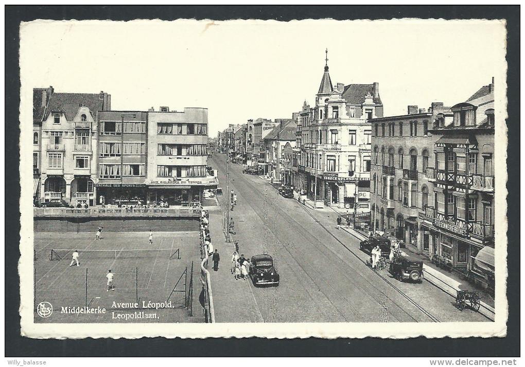 CPA - MIDDELKERKE - Avenue Leopold - Leopoldlaan - Tennis - Nels   // - Middelkerke