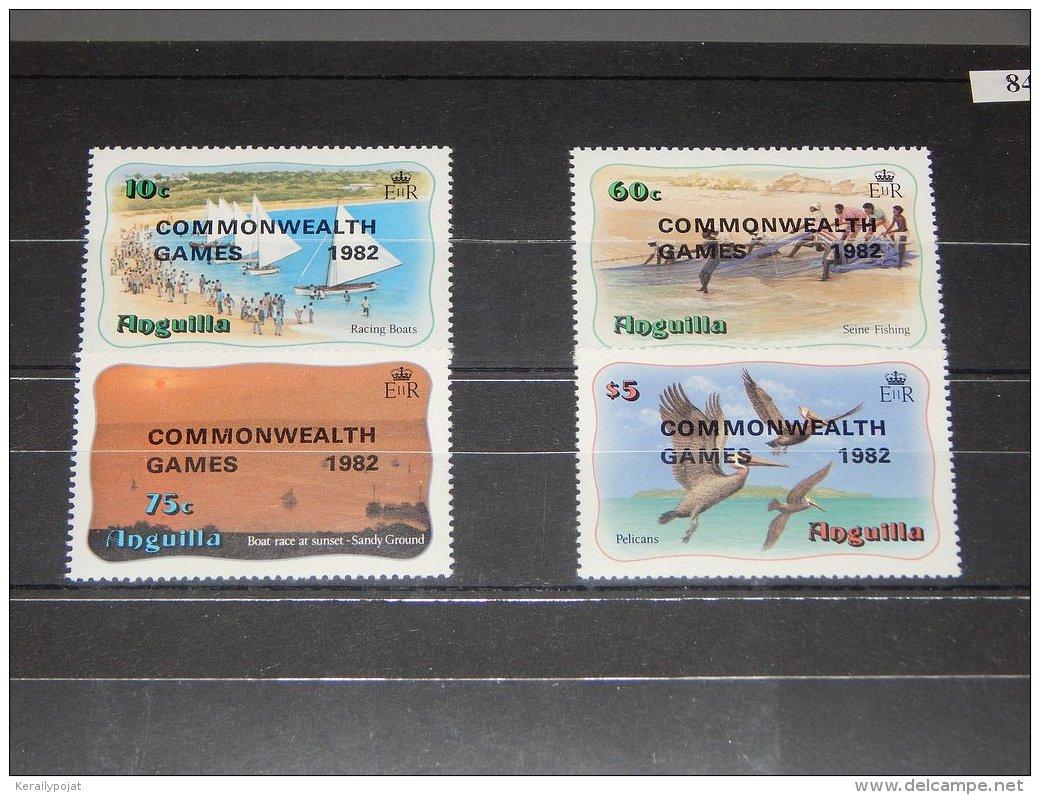 Anguilla - 1982 Commonwealth Games Overprints MNH__(TH-8494) - Anguilla (1968-...)