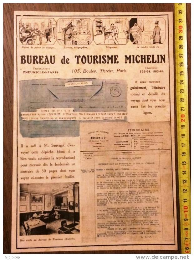 VIEILLE PUBLICITE MICHELIN BIBENDUM BUREAU DE TOURISME  SAUVAGOT - Collections