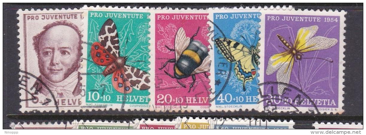 Switzerland Pro Juventute 1954 Used Set - Used Stamps
