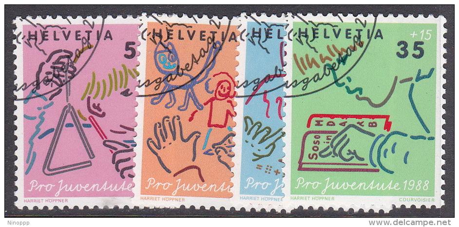 Switzerland Pro Juventute 1988 Used Set - Pro Juventute