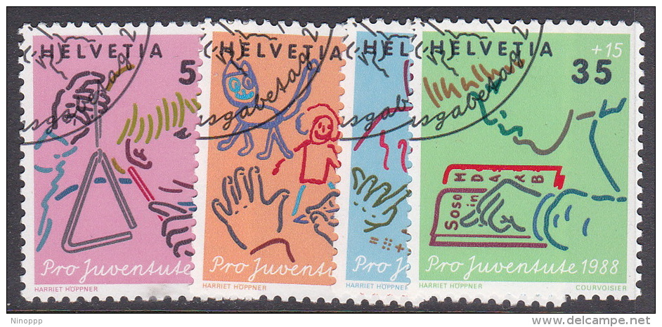 Switzerland Pro Juventute 1988 Used Set - Used Stamps